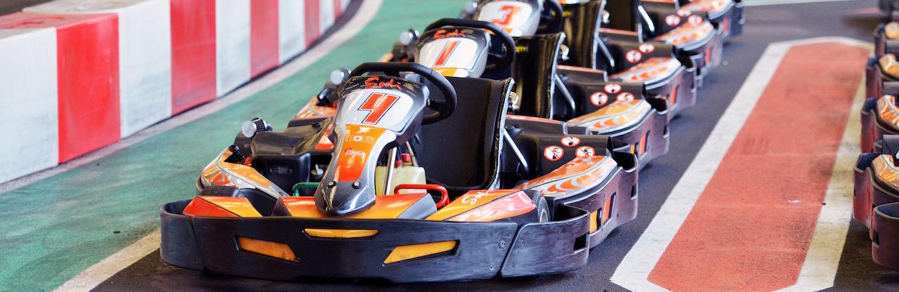 Karts enfants sur le circuit Indoor de St-Sébastien
