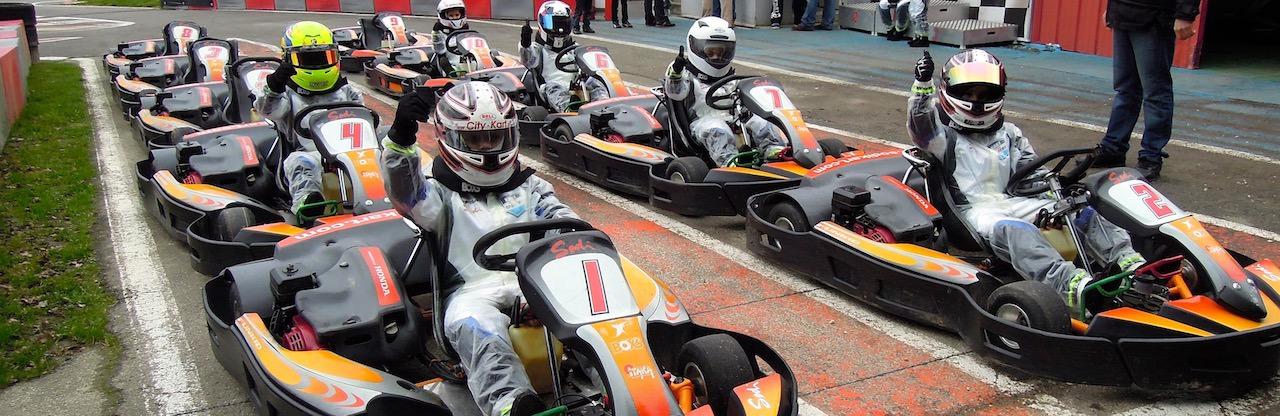 Karts enfants sur le circuit Outdoor de Sautron