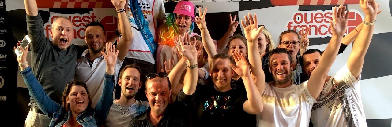 Podium Karting pour EVG et EVJF à Nantes